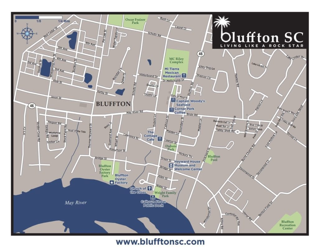 Buffton SC Map Downtown Map of Historic Bluffton