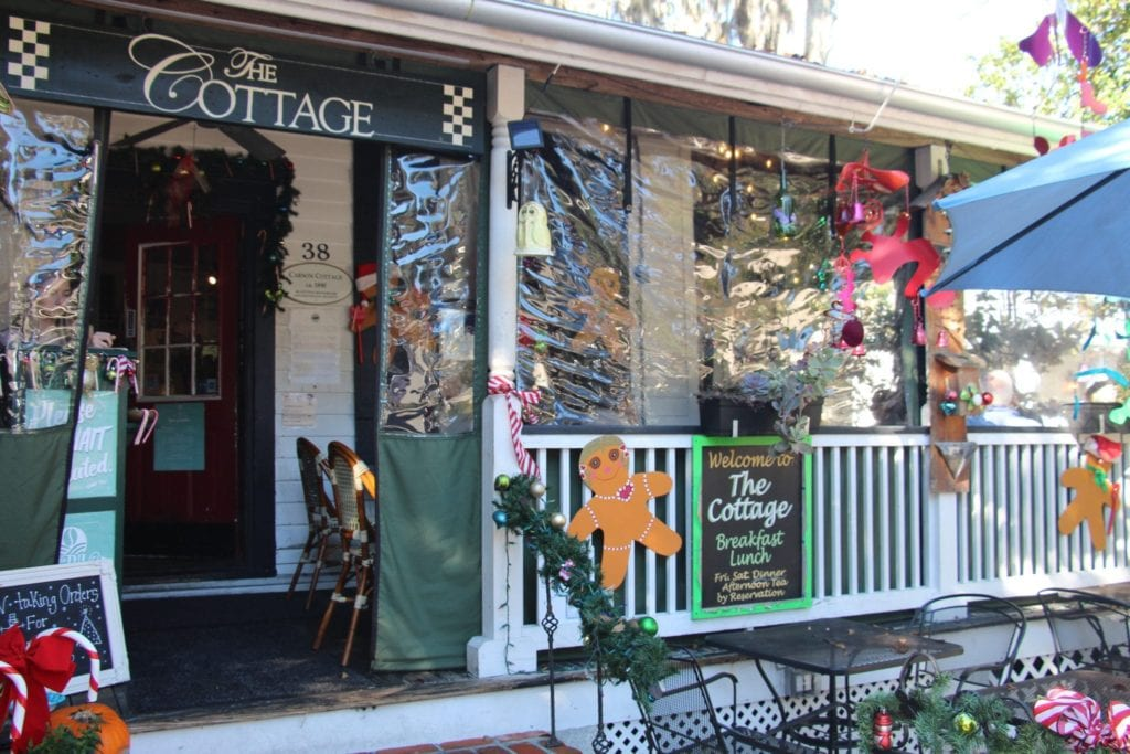 The Cottage Cafe in Downtown Bluffton