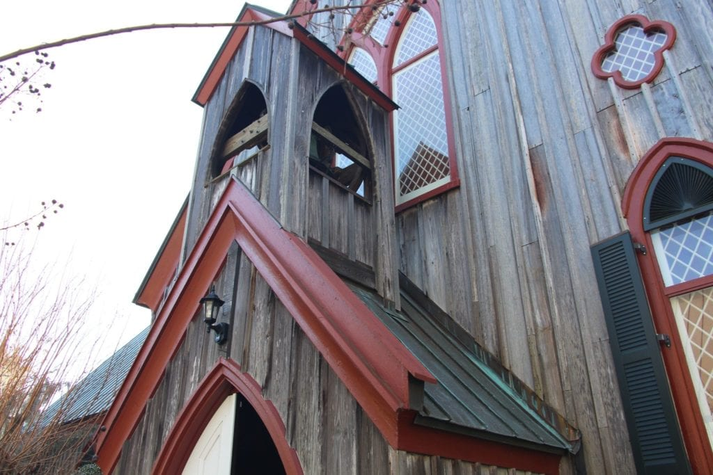 Exterior of Church Where Bees Live
