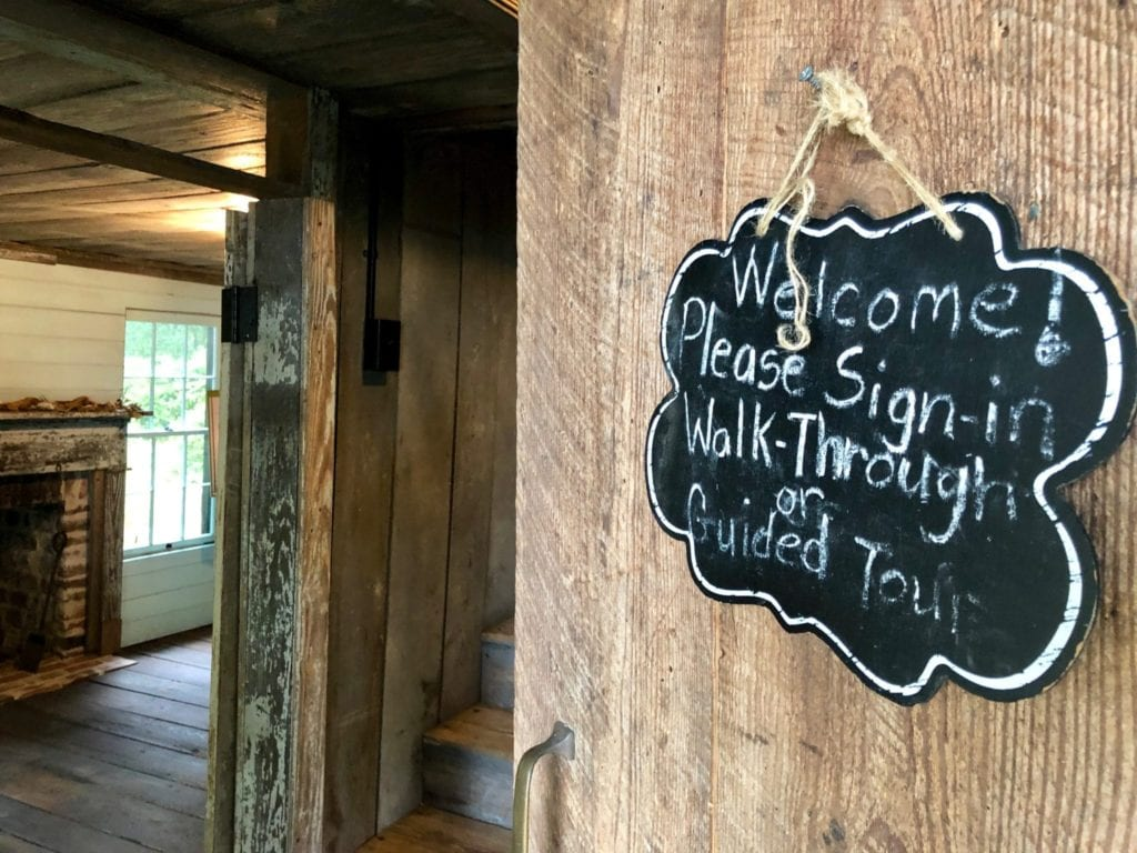 Entrance Sign Garvin Gavey's Freedman Cottage