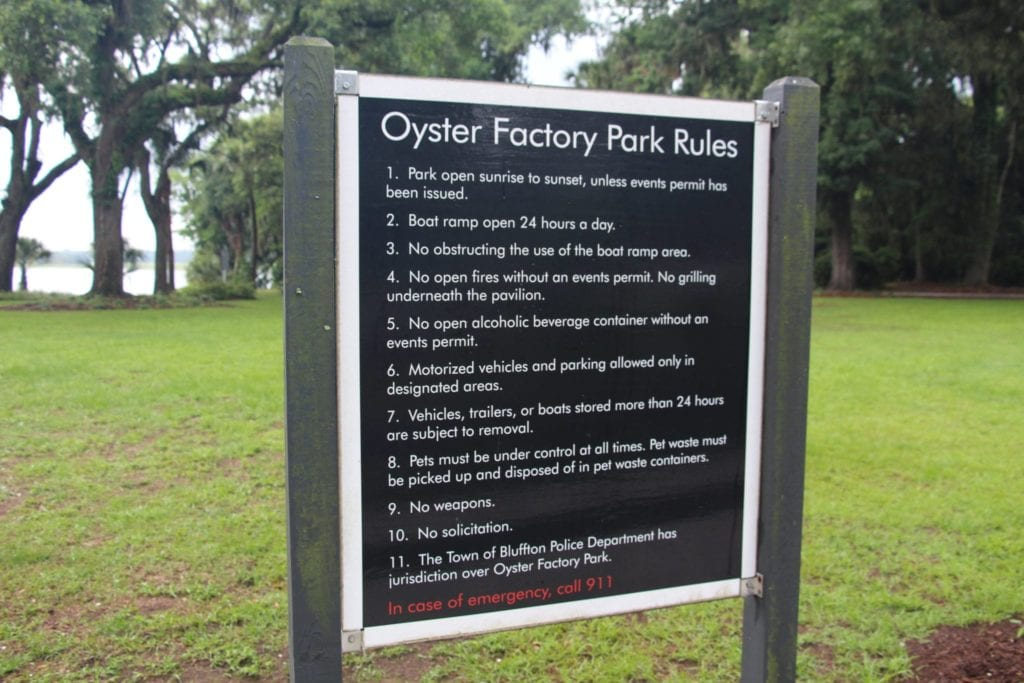 Oyster Factory Park Rules