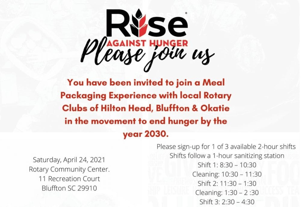 RISE AGAINST HUNGER Bluffton Rotary
